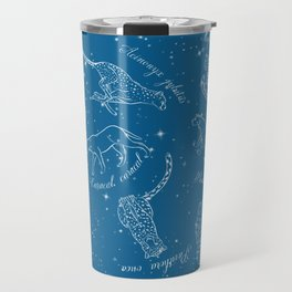 Big Cats Constellations (Light Blue Sky) Travel Mug