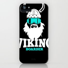 Viking Boarder iPhone Case