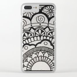 Half Off Clear iPhone Case