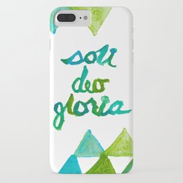 SOLI DEO GLORIA LIFE- BLUE iPhone Case