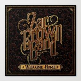 zac brown band best tour 2019 bantal Canvas Print