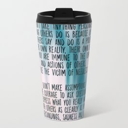The Four Agreements - Colorful Travel Mug