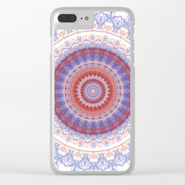 Lovely Lavendar Lace Mandala Clear iPhone Case