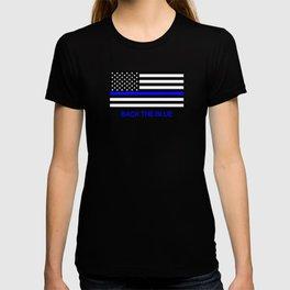 Thin Blue Line Back the Blue Flag T-shirt