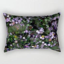 Purple Aster Stars Rectangular Pillow