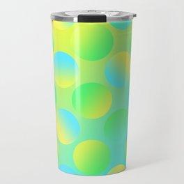 Gradient Polka Dots (Yellow and Green and Blue)! Travel Mug