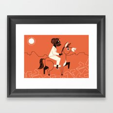 Triumphal Entry (by Lydia Nichols) Framed Art Print