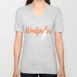 Epic Woodpecker Graphic Tee Shirt Unisex V-Neck