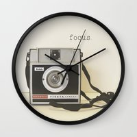 focus Wall Clocks featuring Focus by ShadeTree Photography
