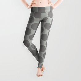 Benjamin Moore Cinder Dark Gray AF-705 Uniform Large Sized Polka Dots on Metropolitan COY 2019 Leggings