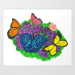 Butterfly Bush Handcrafted Art Art Print
