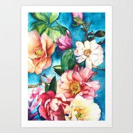 Tropical Floral I Art Print