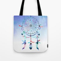 dream catcher Tote Bags featuring Dream Catcher by Find a Gift Now