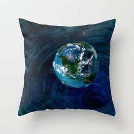 Earth Is In Trouble Throw Pillow