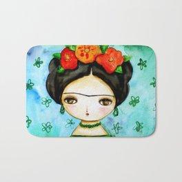 Frida And Her Tears Bath Mat