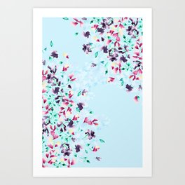 Delphinium bushes Art Print
