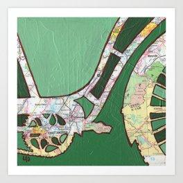 Bike Chattanooga Tennessee Art Print