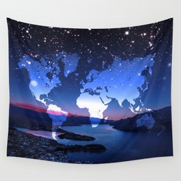 So Many Places to Visit Wall Tapestry
