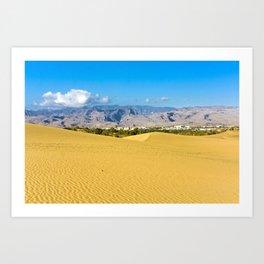 The desert 1.1 Art Print
