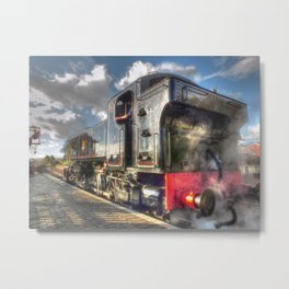 Steam Locomotive 1501 at Bewdley Metal Print