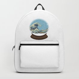 The Great Wave Snow Globe Backpack