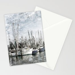 Pass Christian Harbor Sketch Photo Stationery Cards