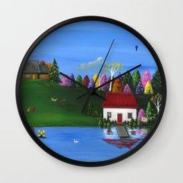 Hilly Hues Wall Clock