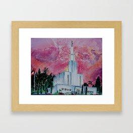 Bern Switzerland LDS Temple Framed Art Print