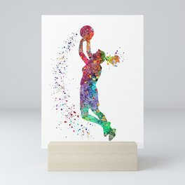 Basketball Girl Player Sports Art Print Mini Art Print