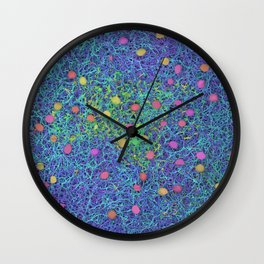 Starry Starry Night Neurons Wall Clock