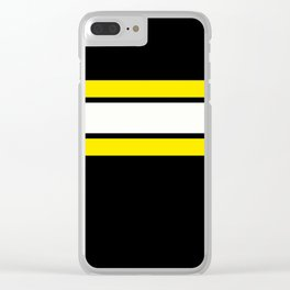 Team Colors 2..yellow Clear iPhone Case