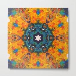 oriental turquoise nignt Metal Print