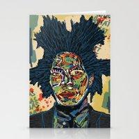 basquiat Stationery Cards featuring BASQUIAT by Blaz Rojs