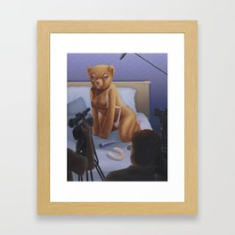 Porn Star Teddy Framed Art Print