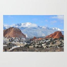 Snow at the Garden of the Gods, Colorado Springs Rug