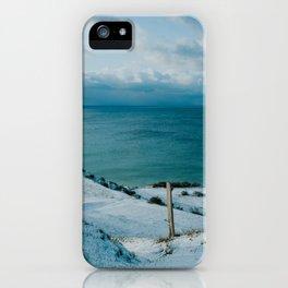 Winter at Voderup Klint iPhone Case