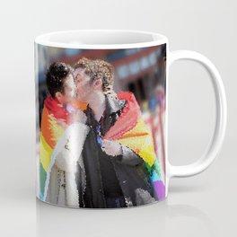 Destiel Pride Stained Glass Coffee Mug
