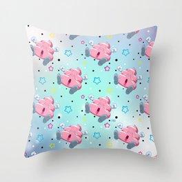 Pink Poo Throw Pillow