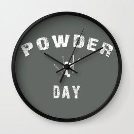 Powder Day Grey Wall Clock