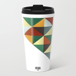Geometric Nevada Metal Travel Mug