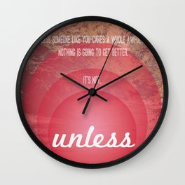 Unless | Red Wall Clock