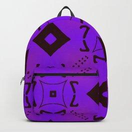 Vivid Purple on Black Diamonds Backpack