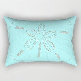 Sand Dollar Dreams - Teal  Rectangular Pillow