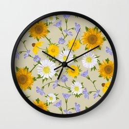 Prairie Floral Wall Clock