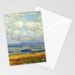 Classical Masterpiece 'Oregon Landscape' by Frederick Childe Hassam Stationery Cards