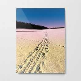 Cross country skiing | Winter wonderland | Landscape photography Metal Print