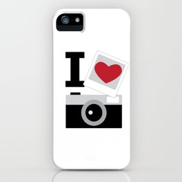 I love camera iPhone Case