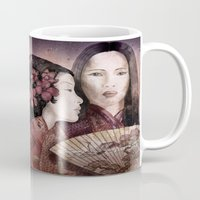 sisters Mugs featuring Sisters by Marine Loup