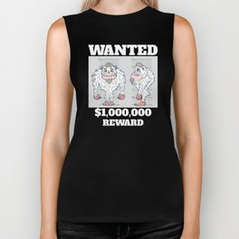 Wanted Poster Abominable Snowman Biker Tank