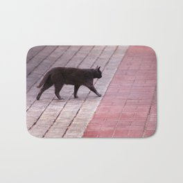 Cat Walking  6589 Bath Mat